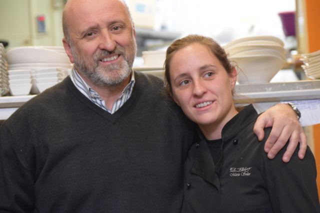 Father/daughter team Juan and Maria are the force behind the Reloj restaurant at Navacerrada.