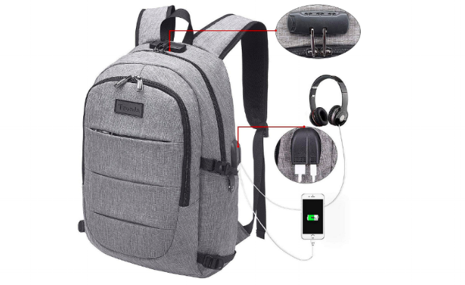 If you must use a backpack, make sure it is one that is difficult for pickpockets to get into. Photo courtesy Amazon