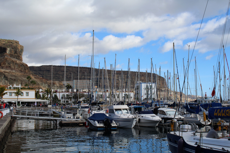 Mogan beach harbour on the Gran Canaria Island.