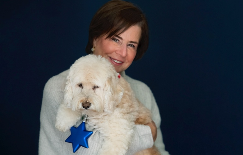 Stella Blu, Susan Solomont's dog, shared her adventures in Spain in residence of the Ambassador's palace.
