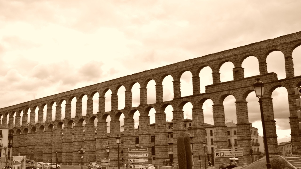 The aqueduct in Segovia is the best preserved aqueduct in Europe.