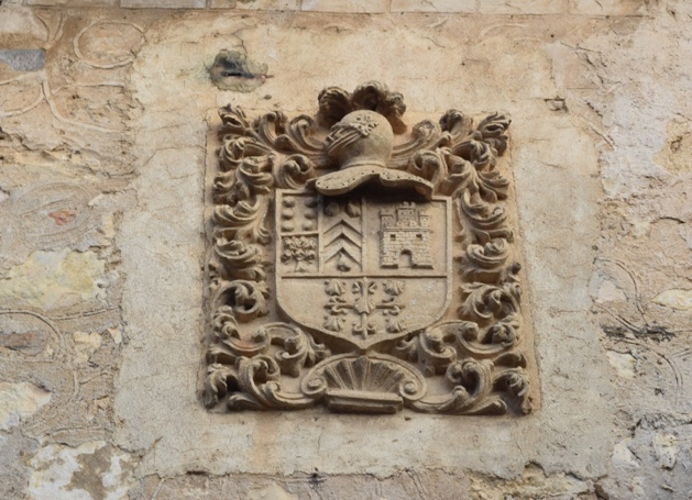 The nobel houses in Pedraza have a crest of arms displayed above the door.