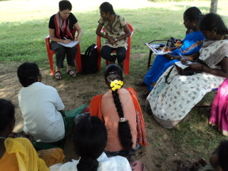 Meeting of Sumangali workers with Annie Delaney