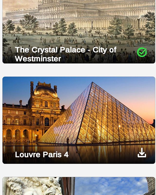 Some of the amazing stories of #AR #history. Try it on appstore or google play.  #guide #paris #louvre #london #chrystalpalace #arhistory