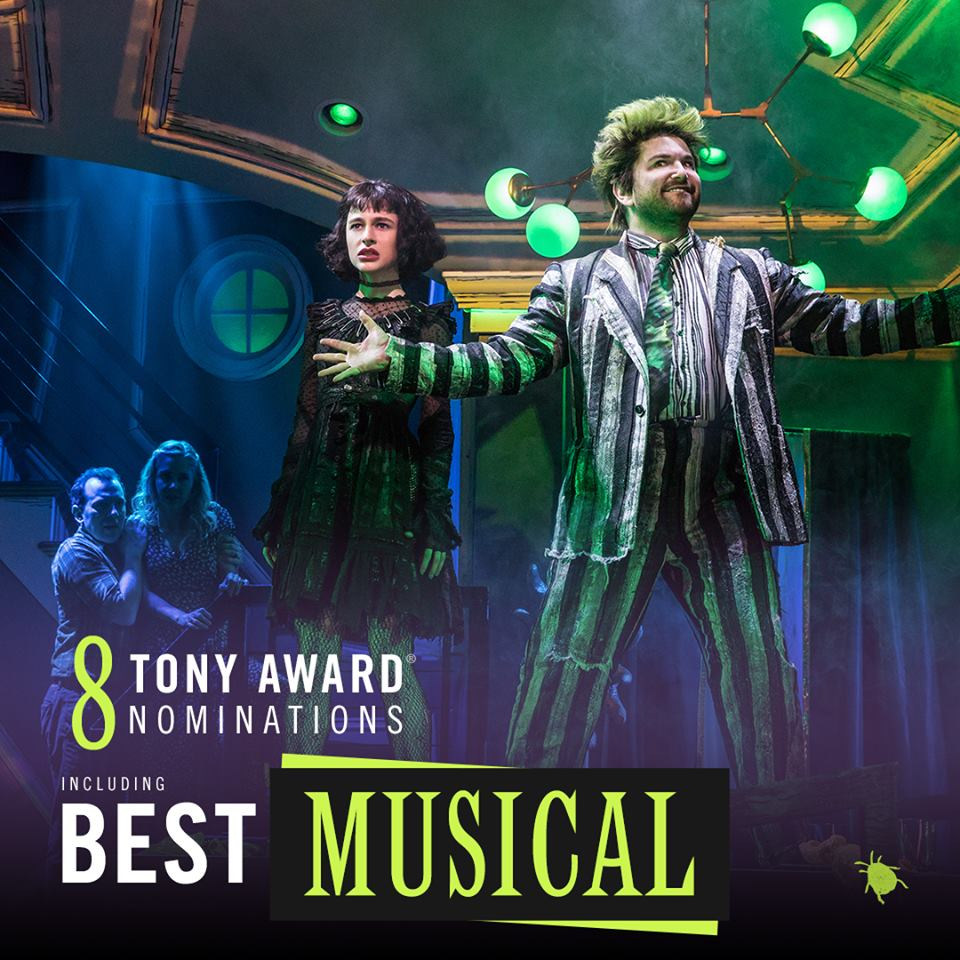 BEETLEJUICE IS NOMINATED FOR 8 TONY AWARDS! -