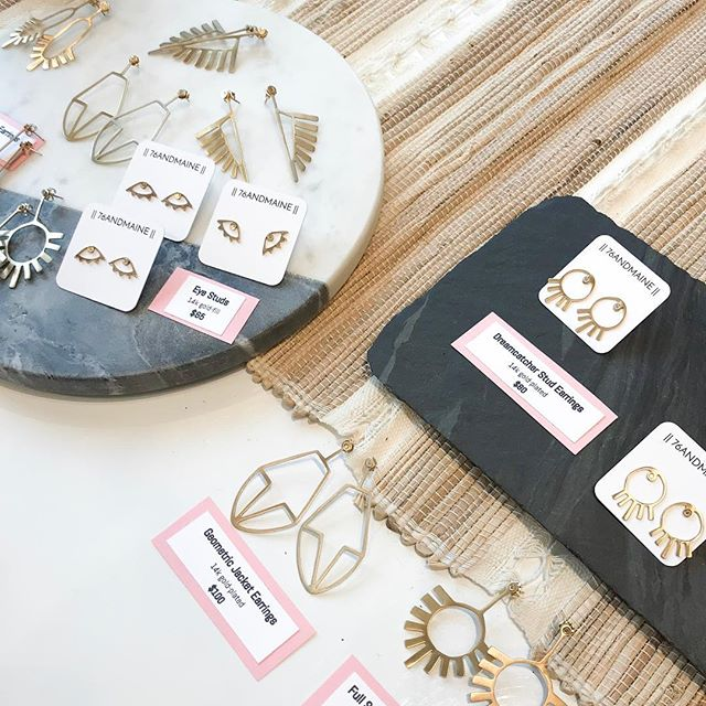 Thank you @saltandsundry for hosting yesterday! For anyone who missed it, all styles are available online in brass and 14k gold-fill. Come and get 'em!
