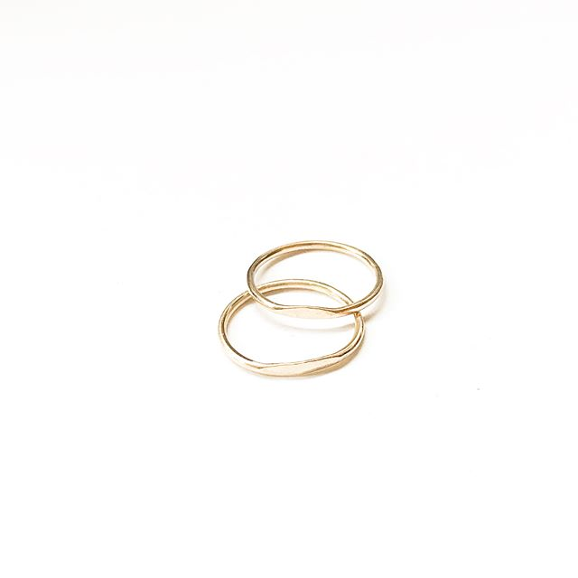 *V* limited supply but stacking rings are now available at 76andmaine.com !! Get em before they're gone 🤘🏻...(promise there will be more soon) . . . #acreativedc #bythings #madeindc #shopsmall #handmade #igdc #ringstack #gold