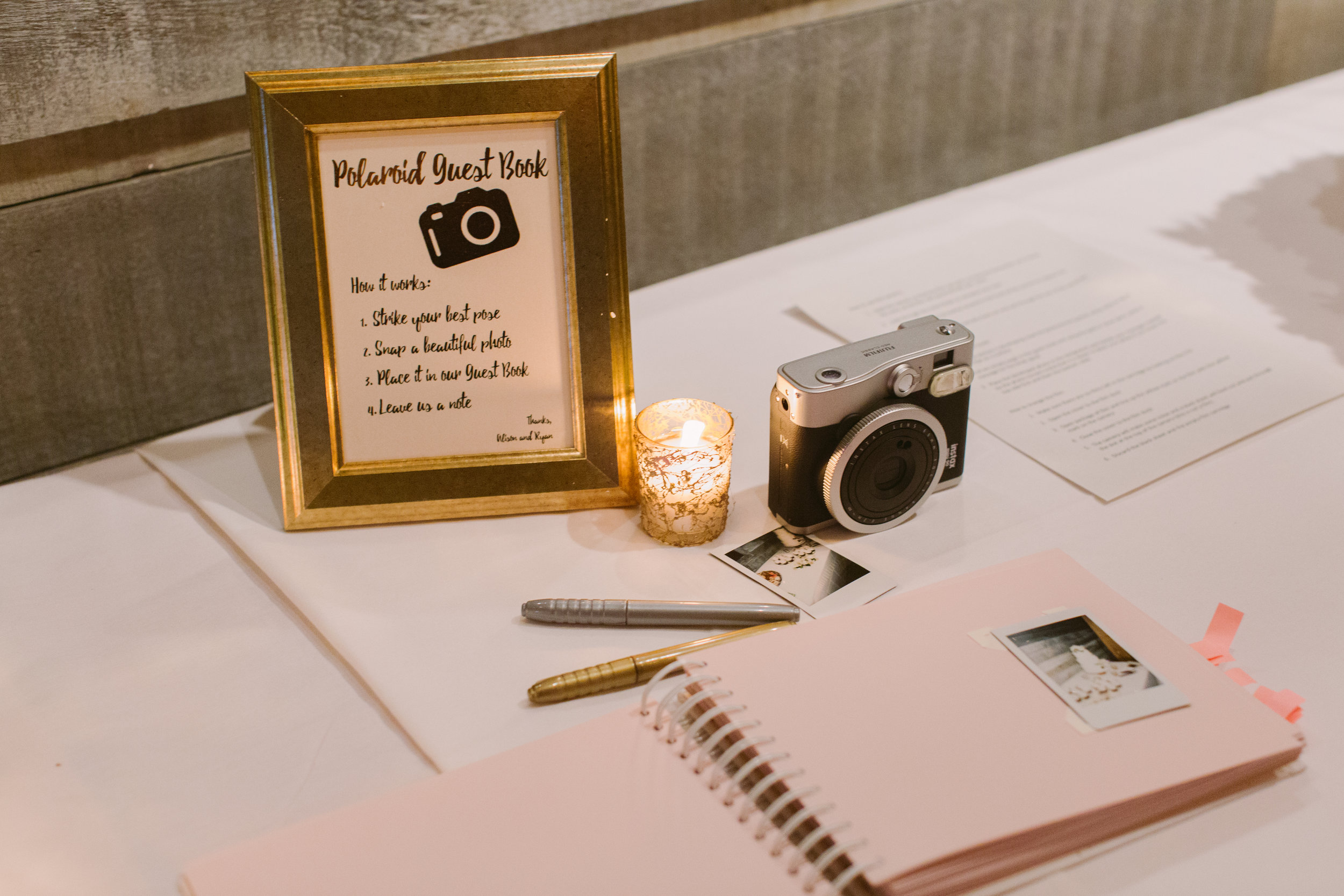 Polaroid Guestbook by Junebug Events