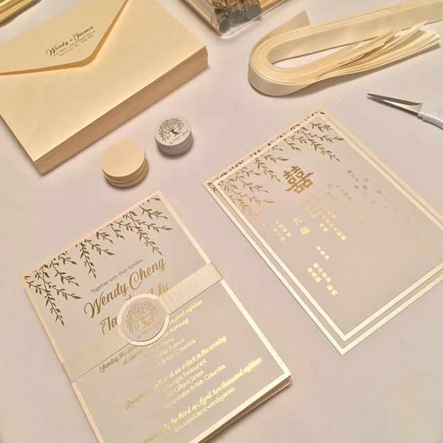 From invitations to day-of stationeries. So thankful to @wedgyy and @jaeminyu for allowing us to be a part of their beautiful wedding 💕 #wendyfoundyu #yufoundwendy • • • Wedding Photographer: @herastudiosinc  Wedding Planner: @shingweddings