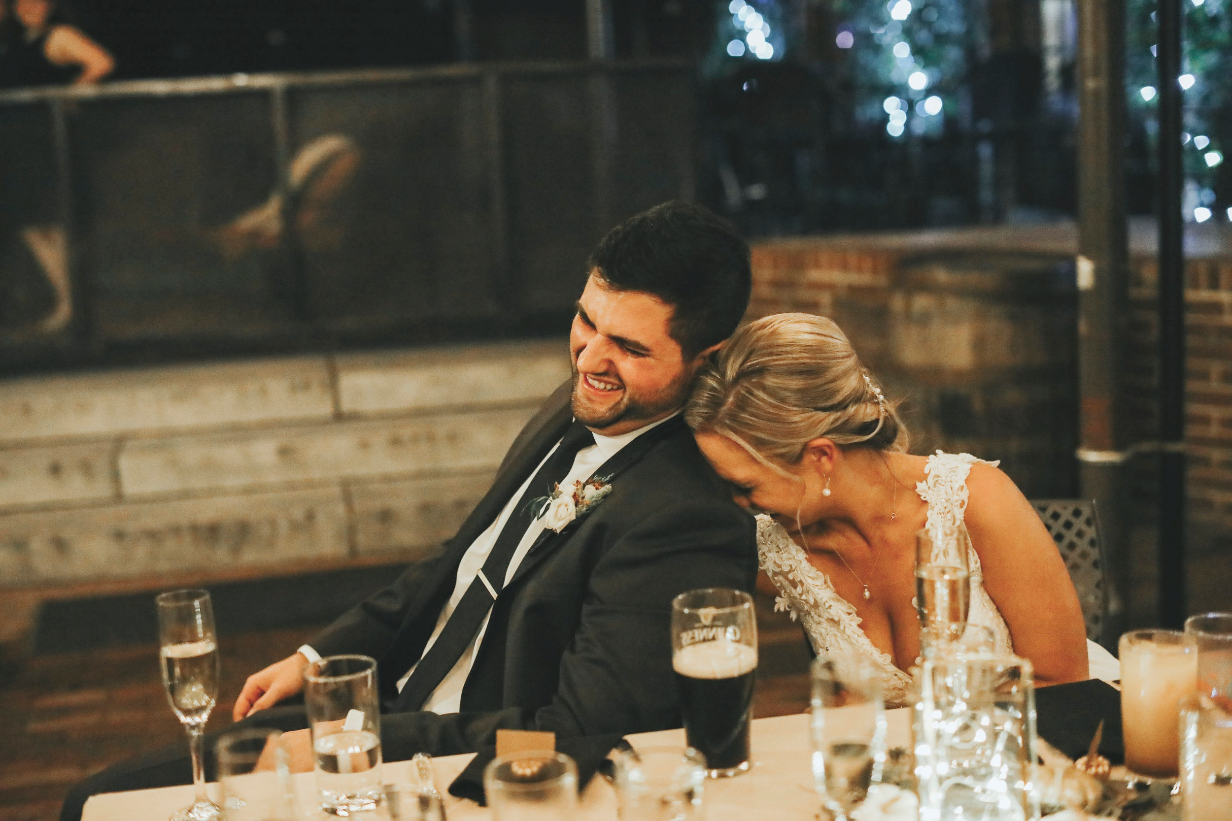 "October 20th, 2019 - ""I will forever hold onto the picture of my husband and I laughing at the table. It's a beautiful moment that would happen like any other day, but captured with heart and simplicity."""