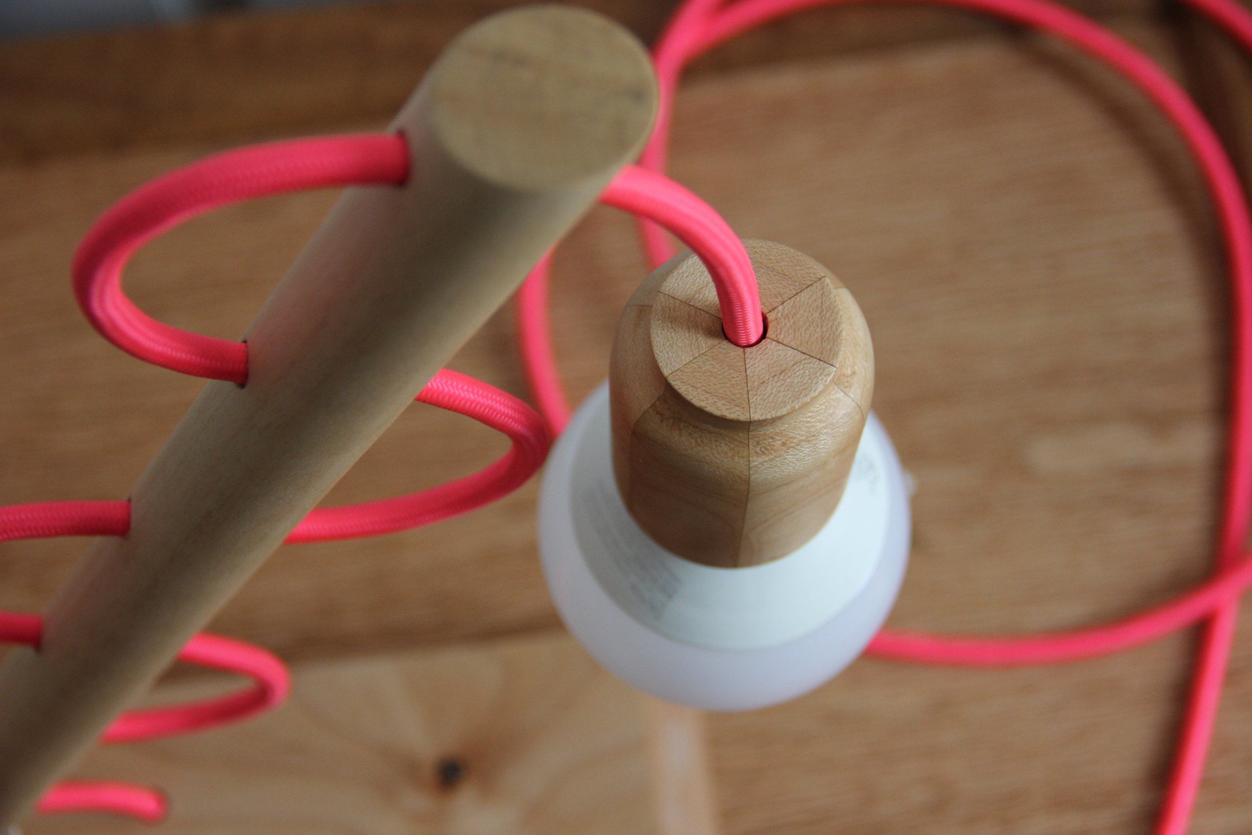 Maple Desk Lamp detail