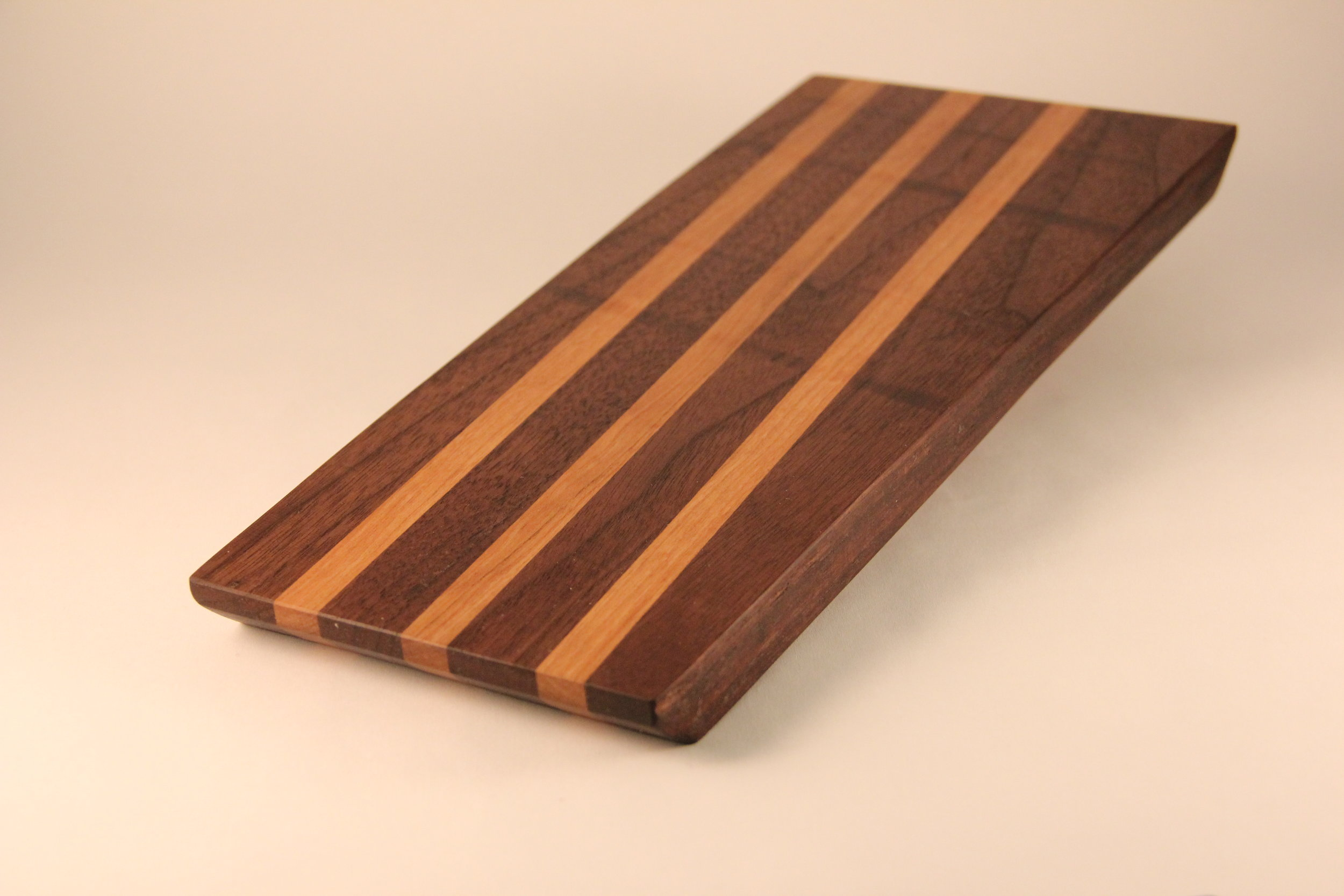 Walnut and Cherry Long Grain Bar Board