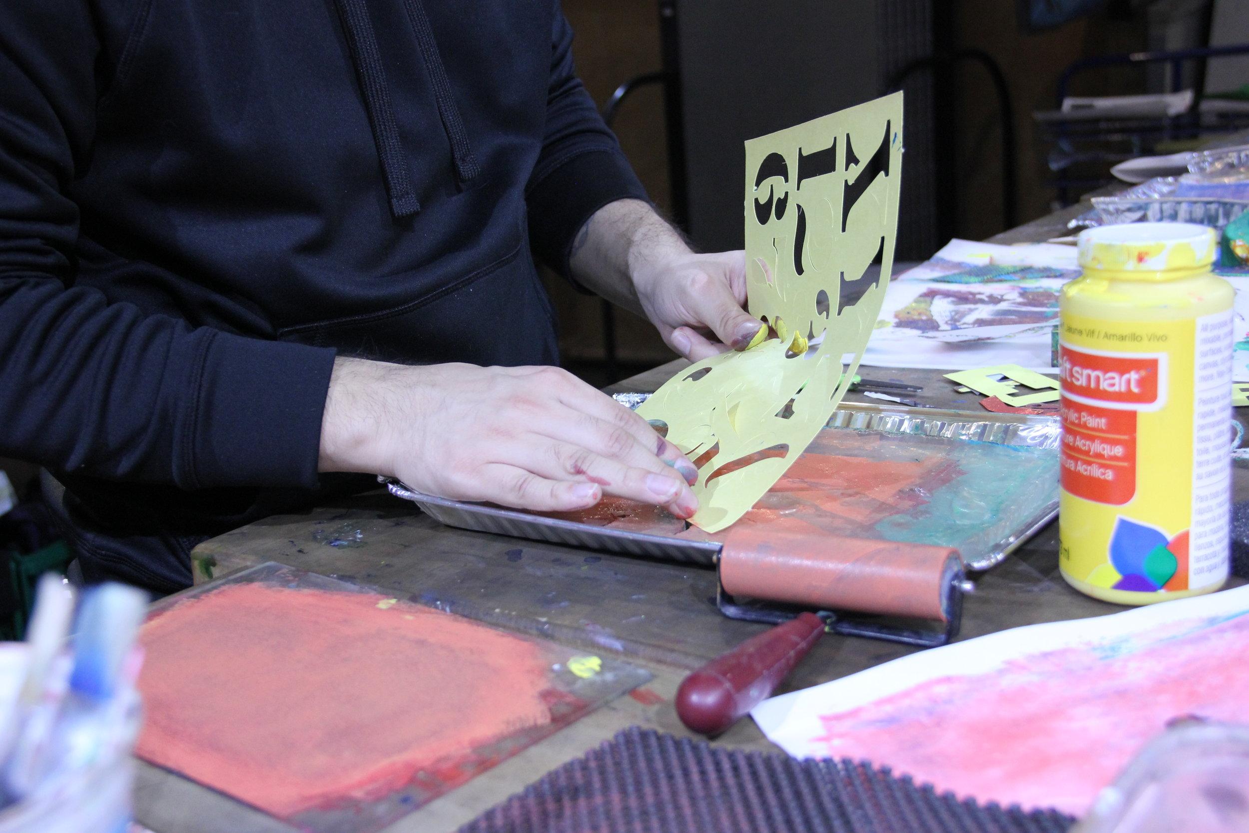 Printmaking for Sanity workshop 2