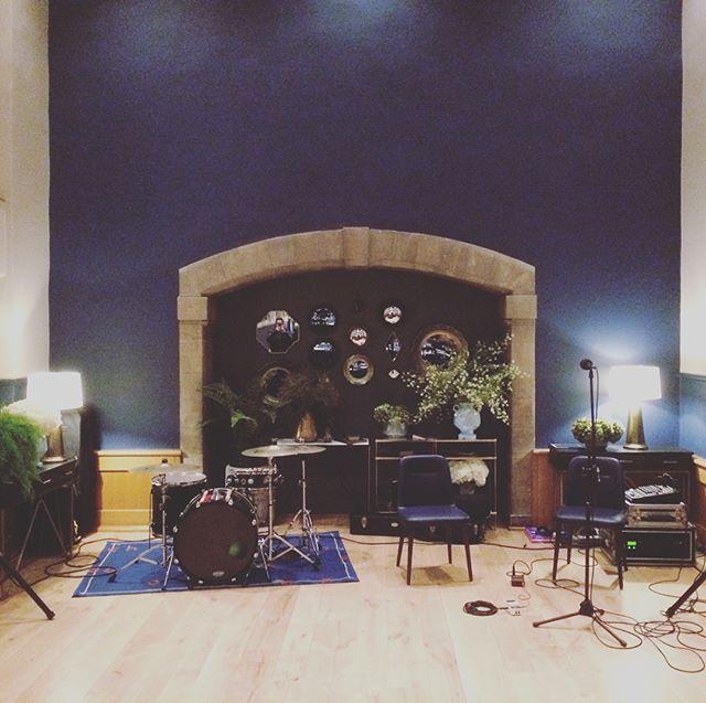 All set for tonight's gig in Edinburgh Castle #ceilidhband #edinburghcastle