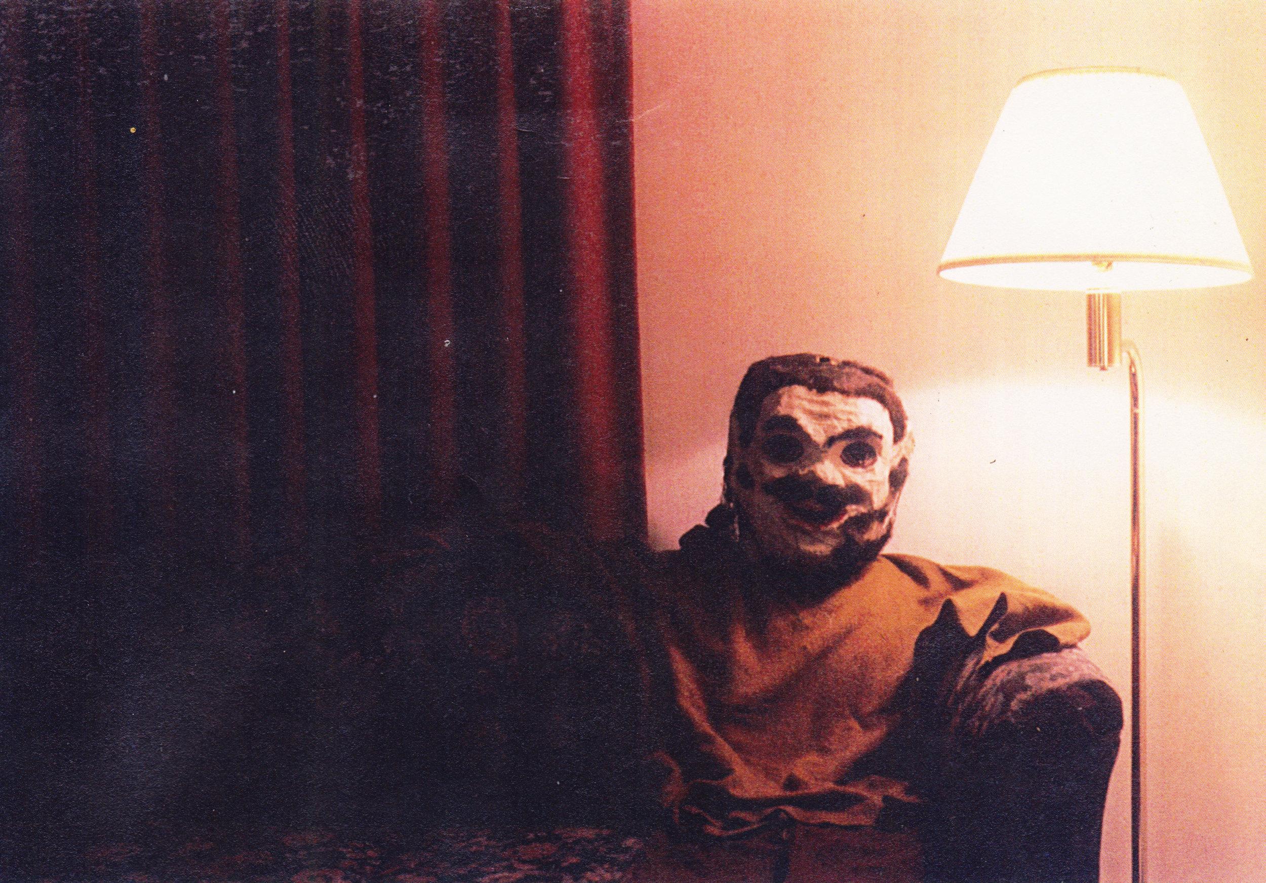 Paper maché head flat people pic taken in my hotel room in Arizona.