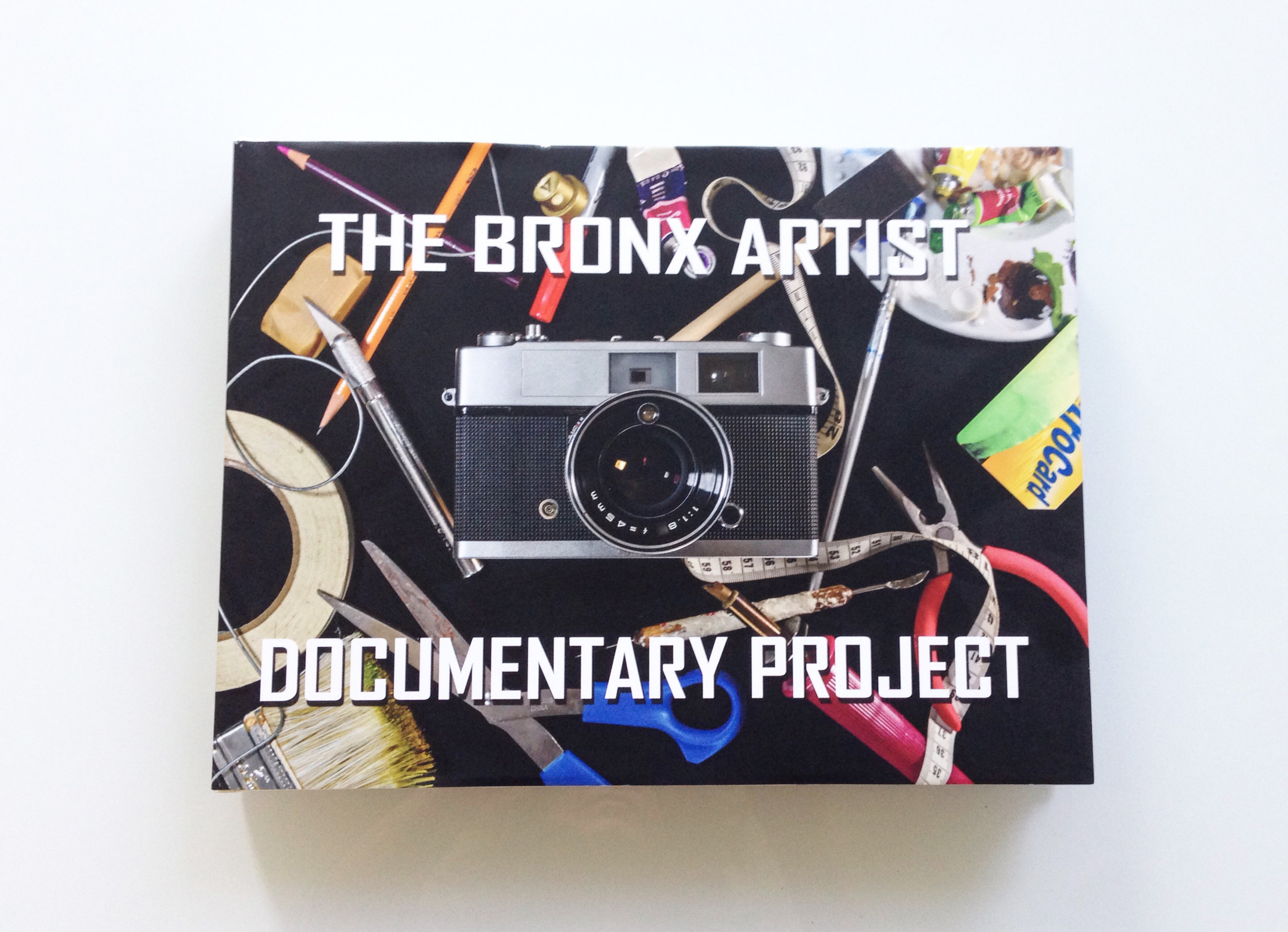 The book for The Bronx Artist Documentary Documentary Project.