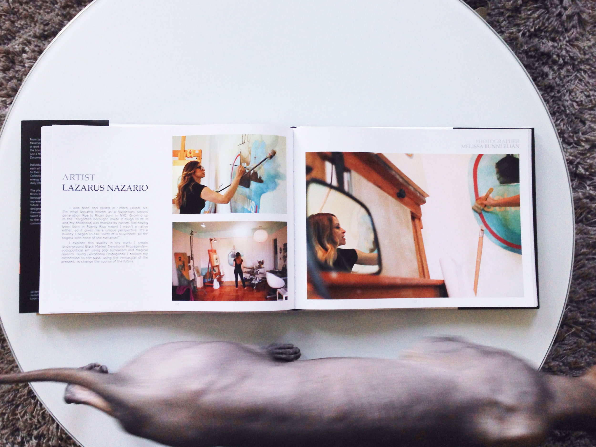 My feature in the book with a cameo by Onji, my fearless Sphynx cat.