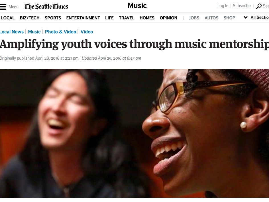 Amplifying youth voices through music mentorship - By Erika SchultzApril 28, 2016