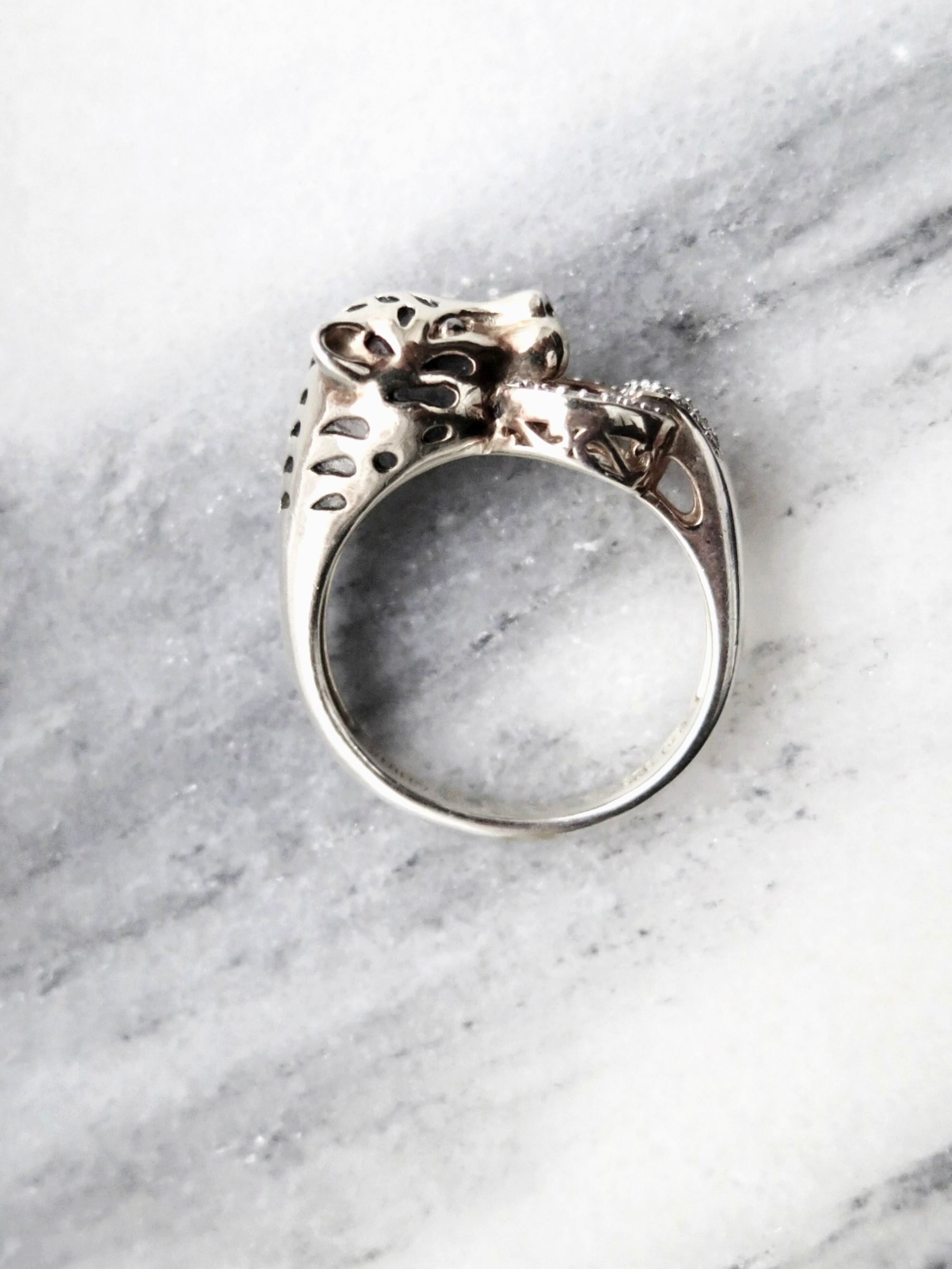 Le Guépard Sterling Silver and Diamond Ring - $275.00