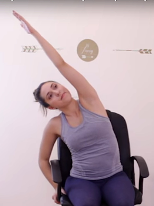 WELLNESS_Yoga in a Chair_If like the vast majority of the workforce you spend most of your day sitting at a desk in front of your computer, this great yoga routine is for you. I tried it and it felt amazing.#yogaatyourdesk - Photo: Yoga Journal