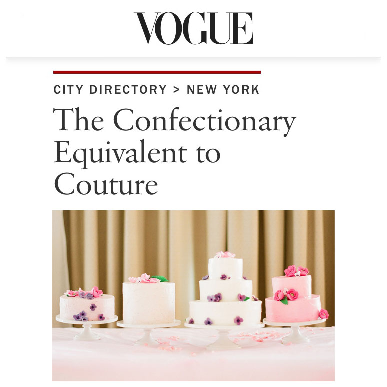 Vogue :: The Confectionary Equivalent to Couture