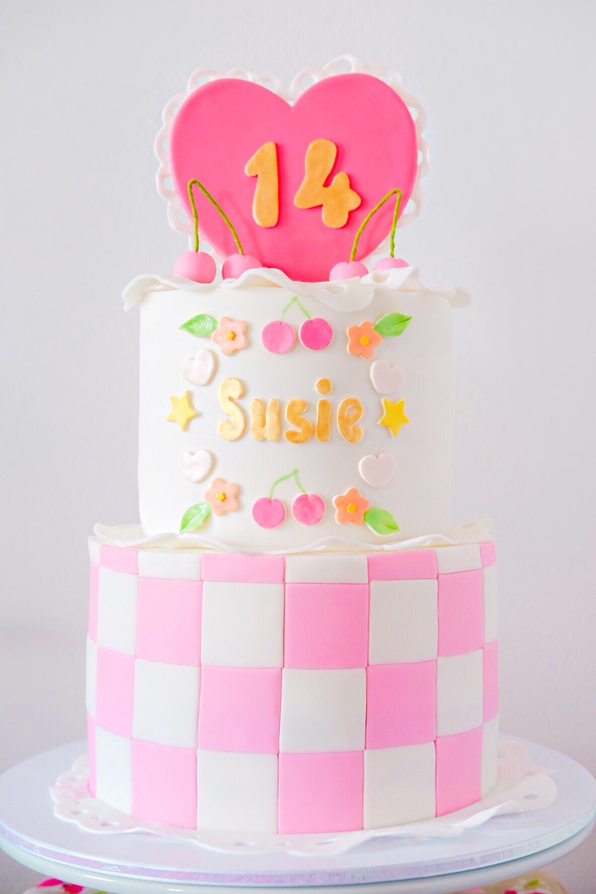 Sweet 14 Birthday Cake