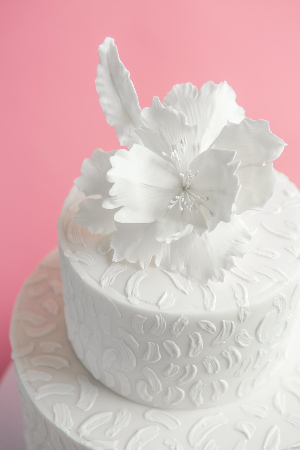 Brush Stroke Wedding Cake