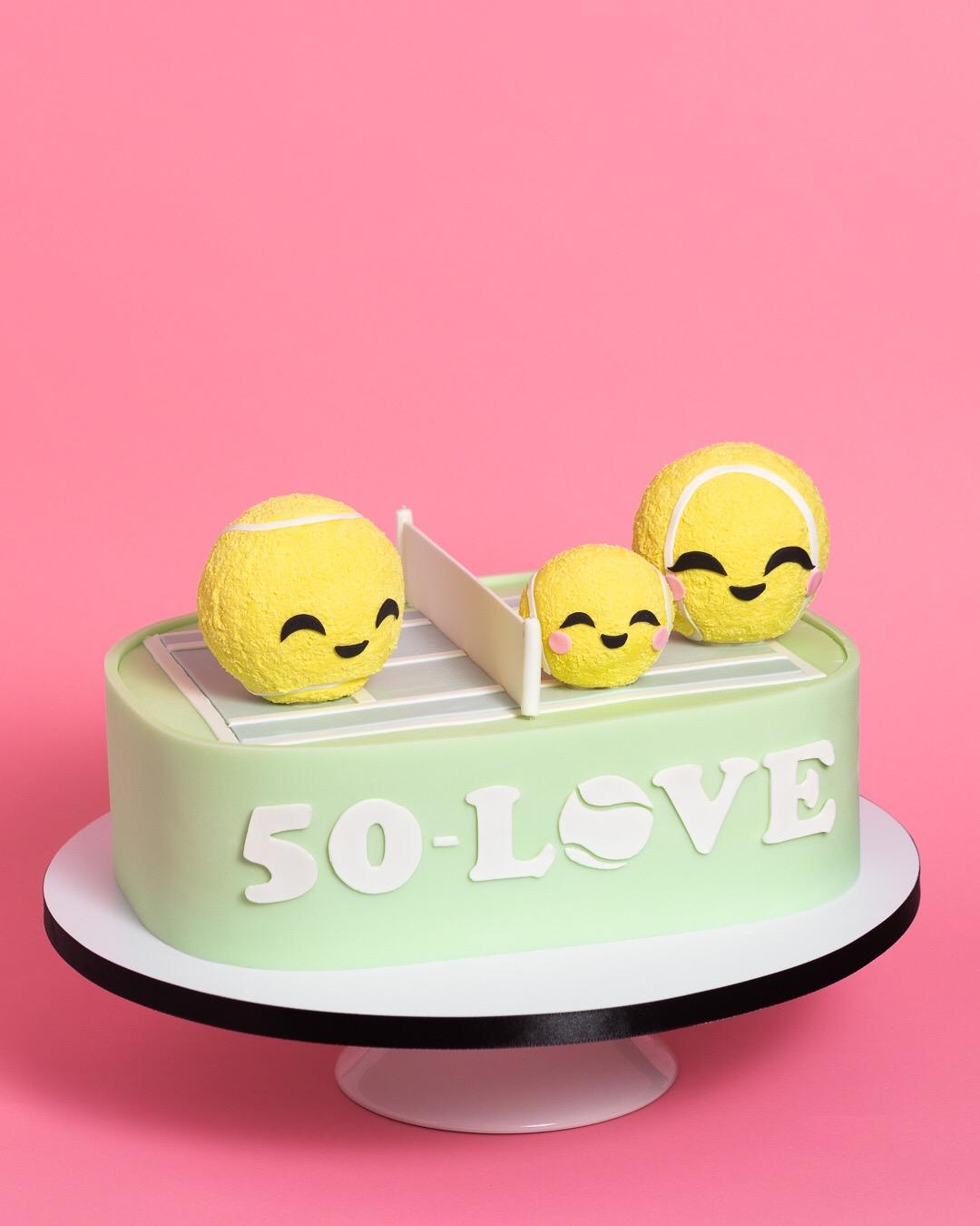 Tennis Kawaii Groom's Cake