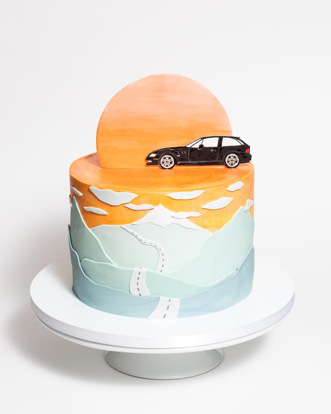 BMW Z3 Coupe Clownshoe Sunset Car Cake
