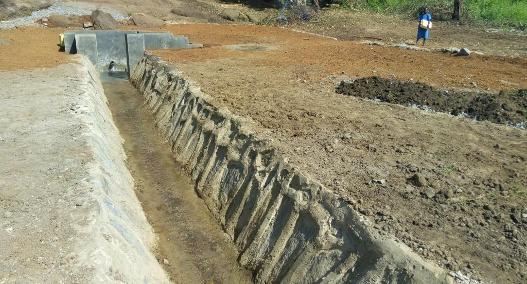 Drainage channel after construction