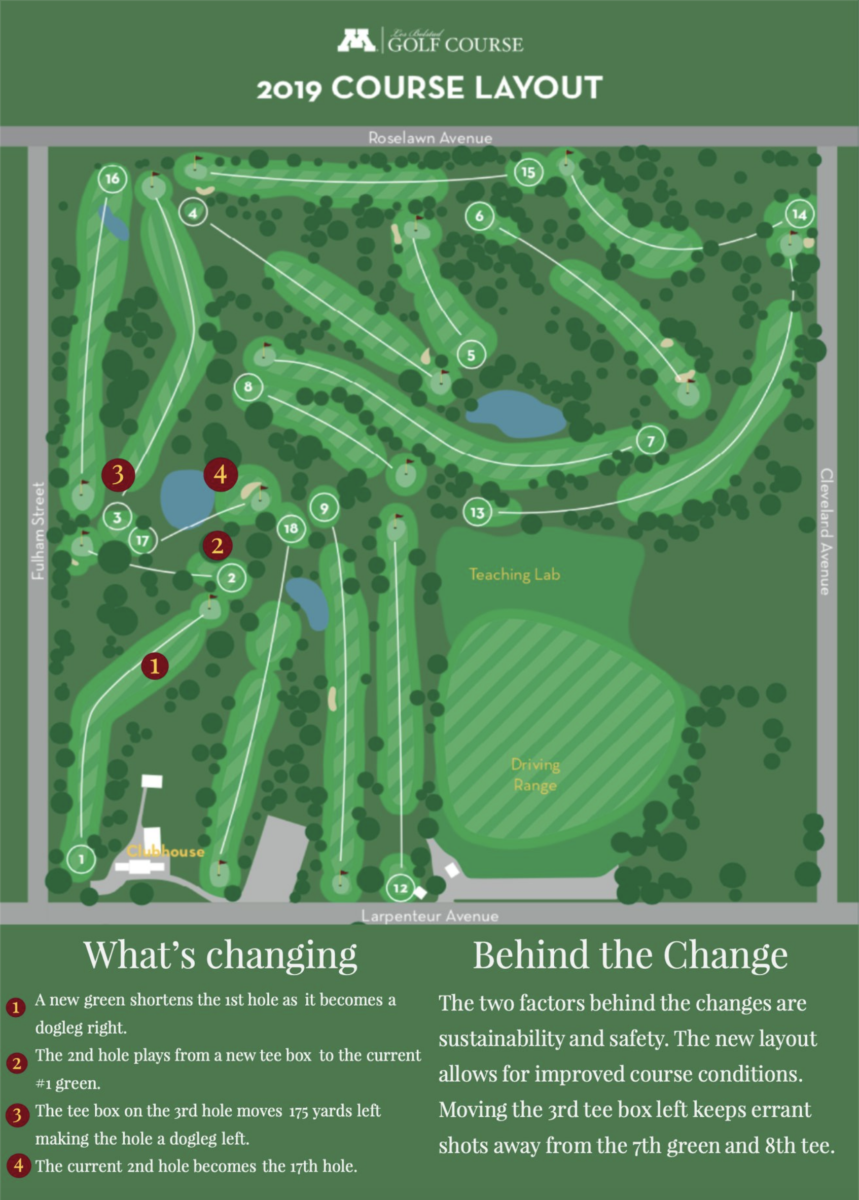 New Course Routing - Our new course routing with be opening on July 26th. This new routing will help with course sustainability and safety on the course.