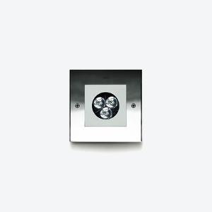 MINIZIP  Carré 3W ou 6W Stainless   Spec ► IES/CAD ► Aluminum  Spec ► IES/CAD ►