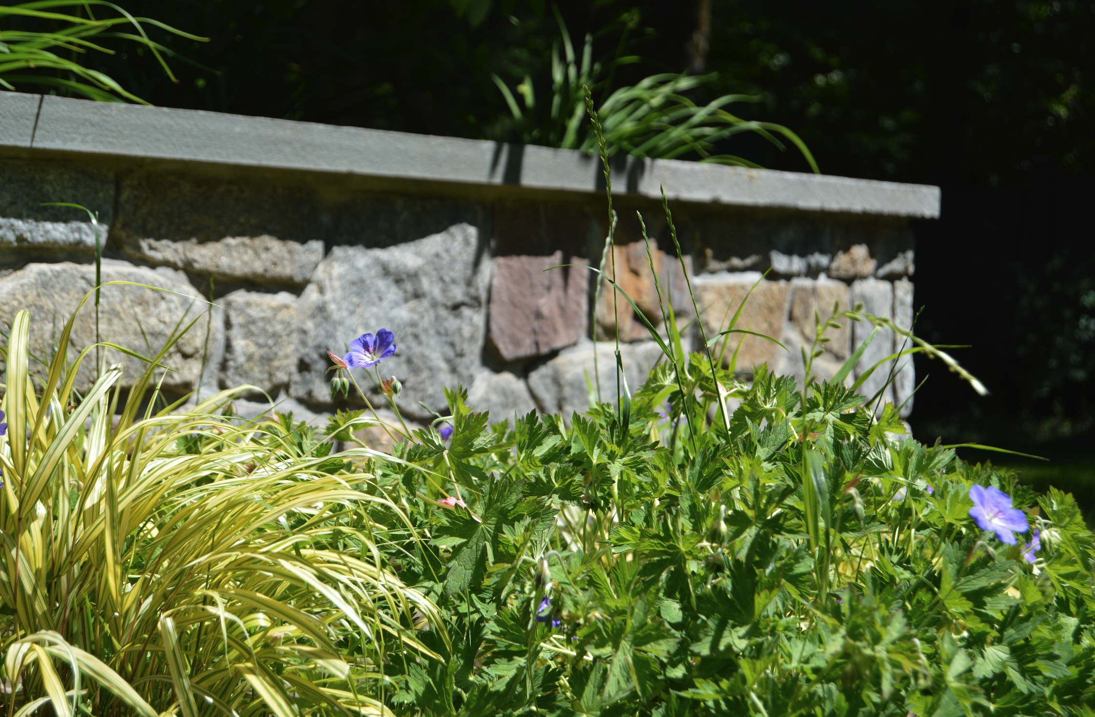 Copy of landscape design stone retaining wall Westchester County, NY