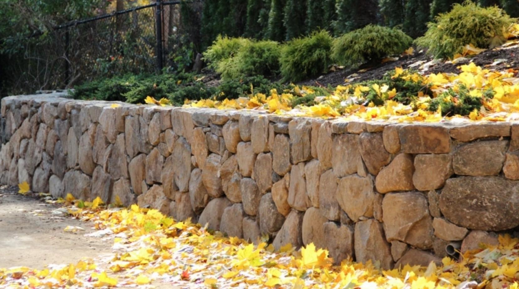 Copy of landscape design stone retaining wall Croton, NY