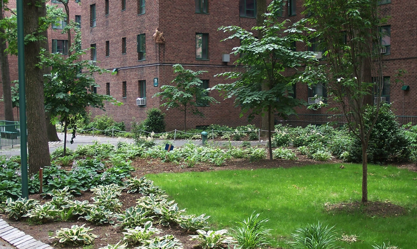 Copy of landscape design stone retaining wall for apartment complex Westchester County, NY