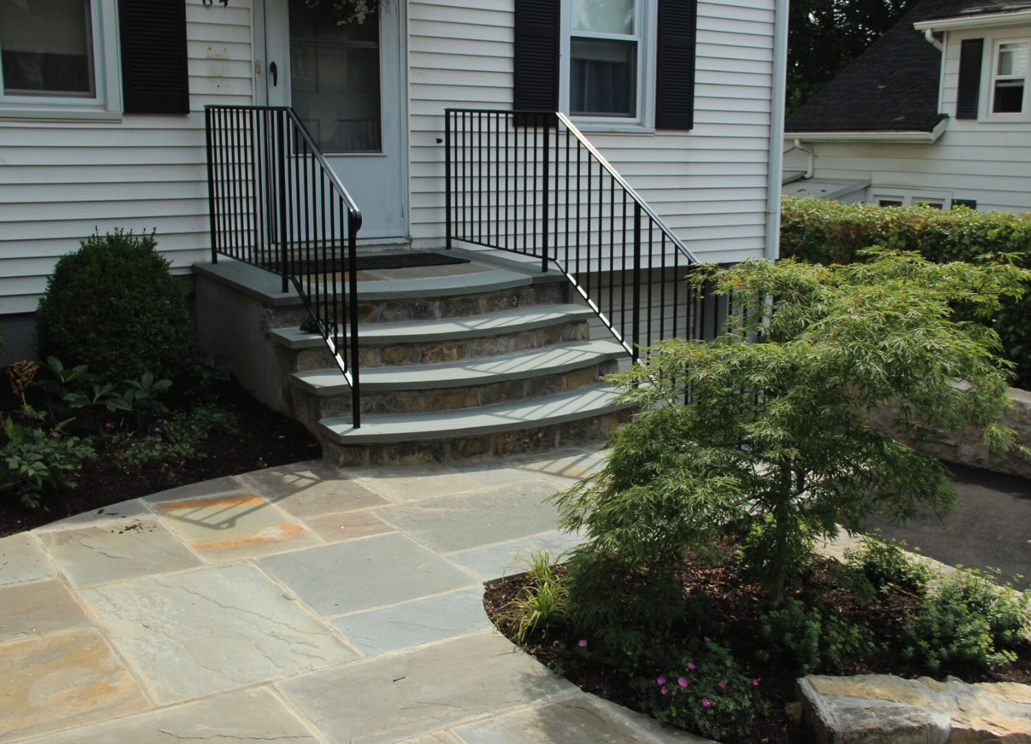 Copy of landscape design natural stone and steps Westchester County, NY