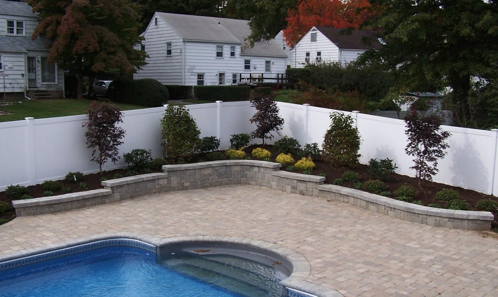 Westchester County, NY custom masonry around swimming pool and patio