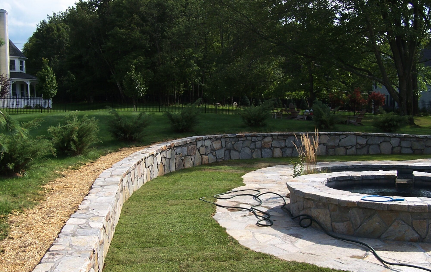 Westchester County, NY custom build fire pit