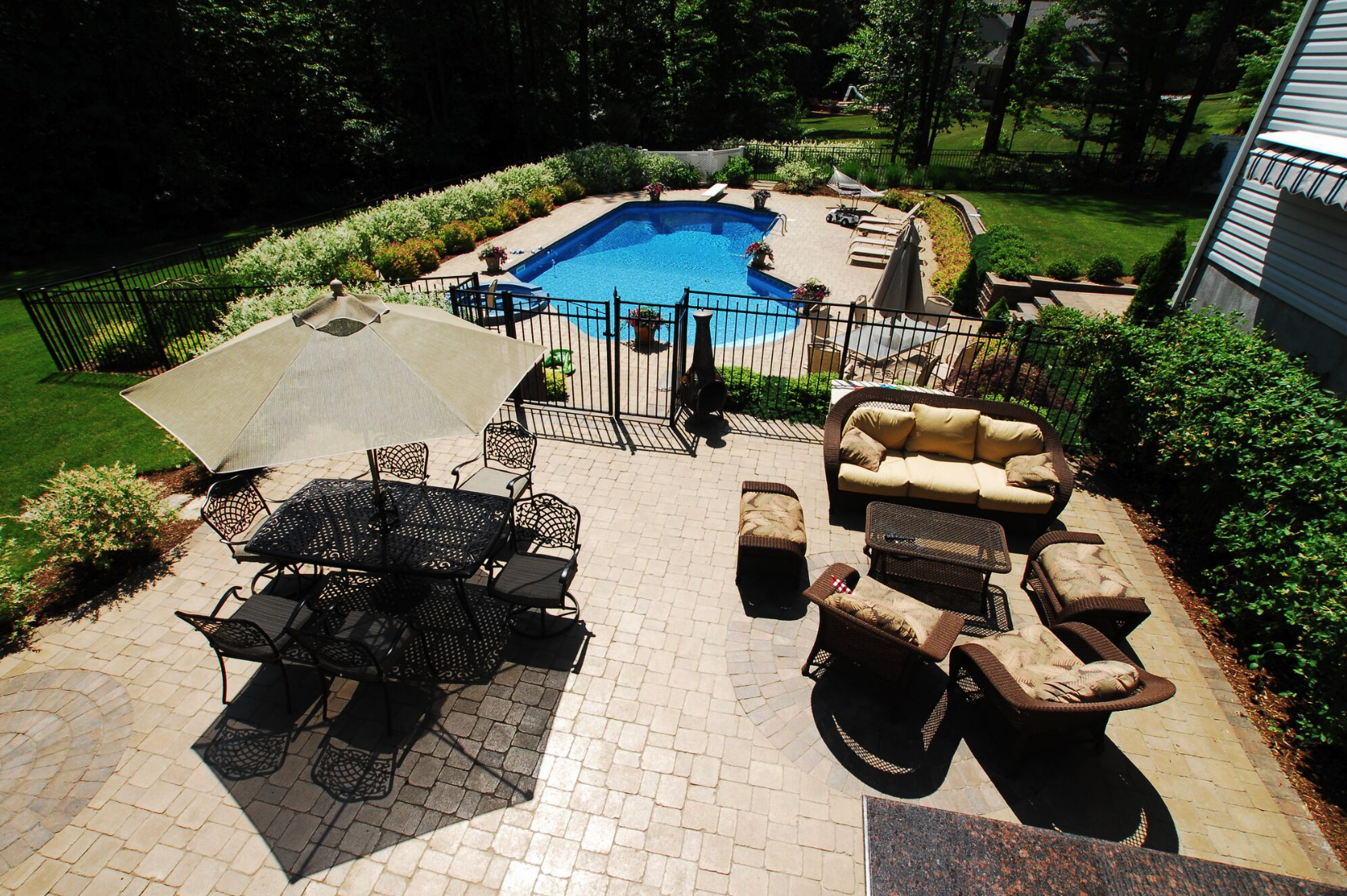 Landscape construction - patio installation in Westchester County NY