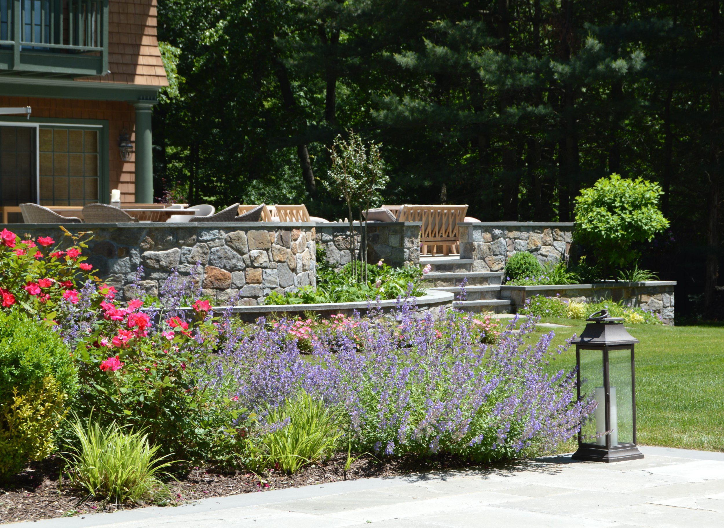 Professional landscape design with plantings in Chappaqua, NY