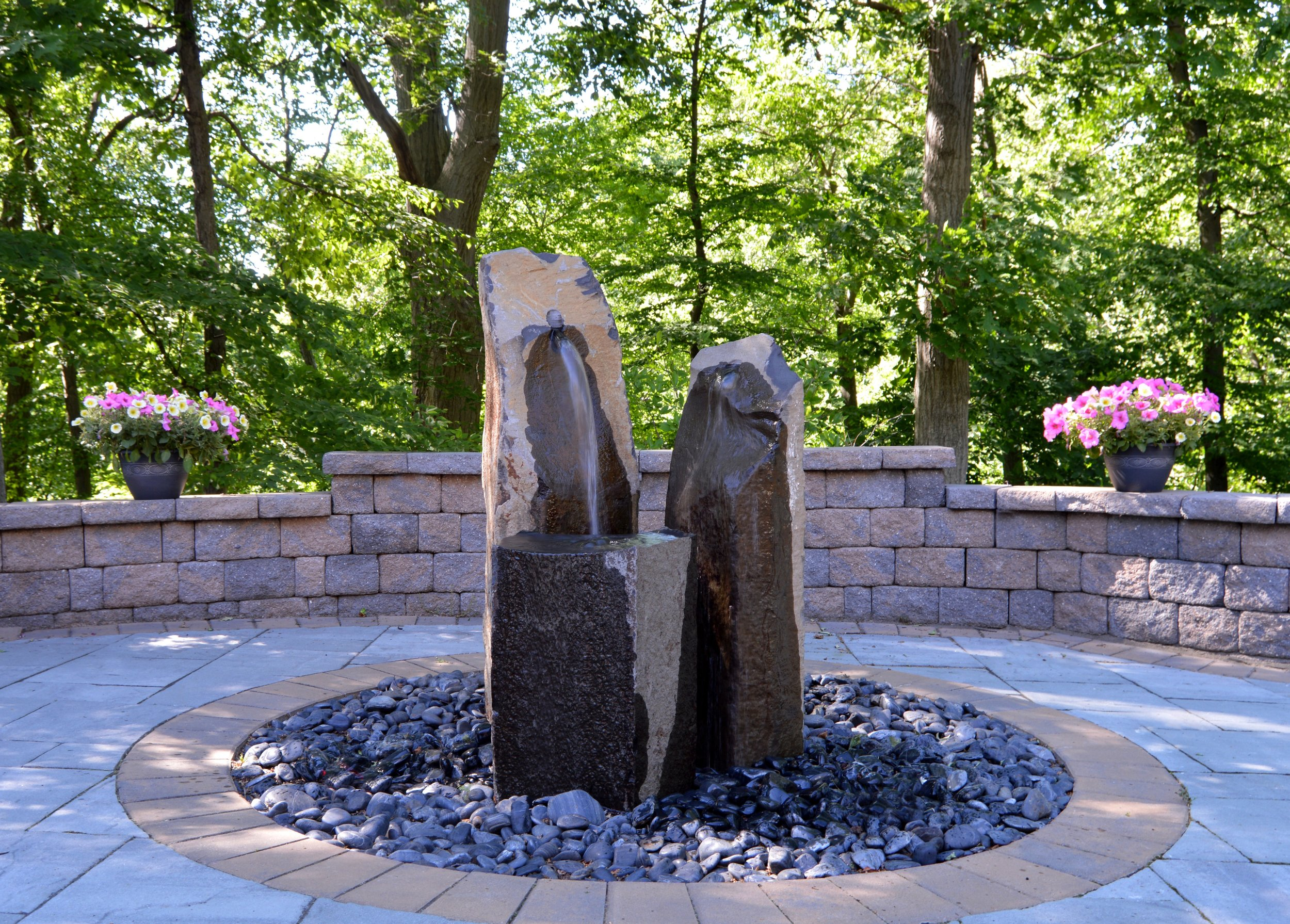 Professional landscape design with water feature in Garrison, NY