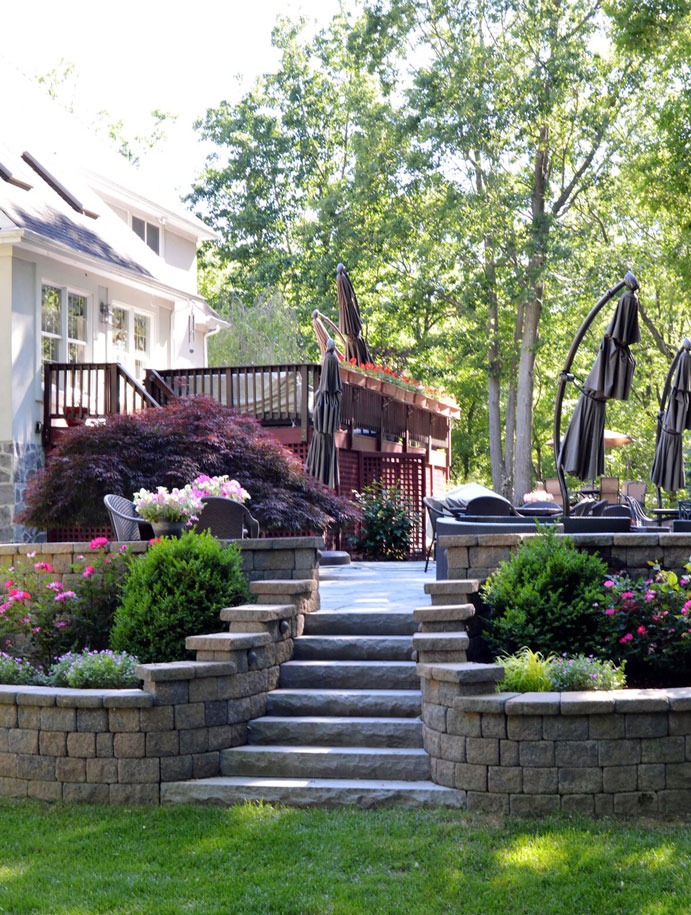 New patio in Croton, Westchester County, New York