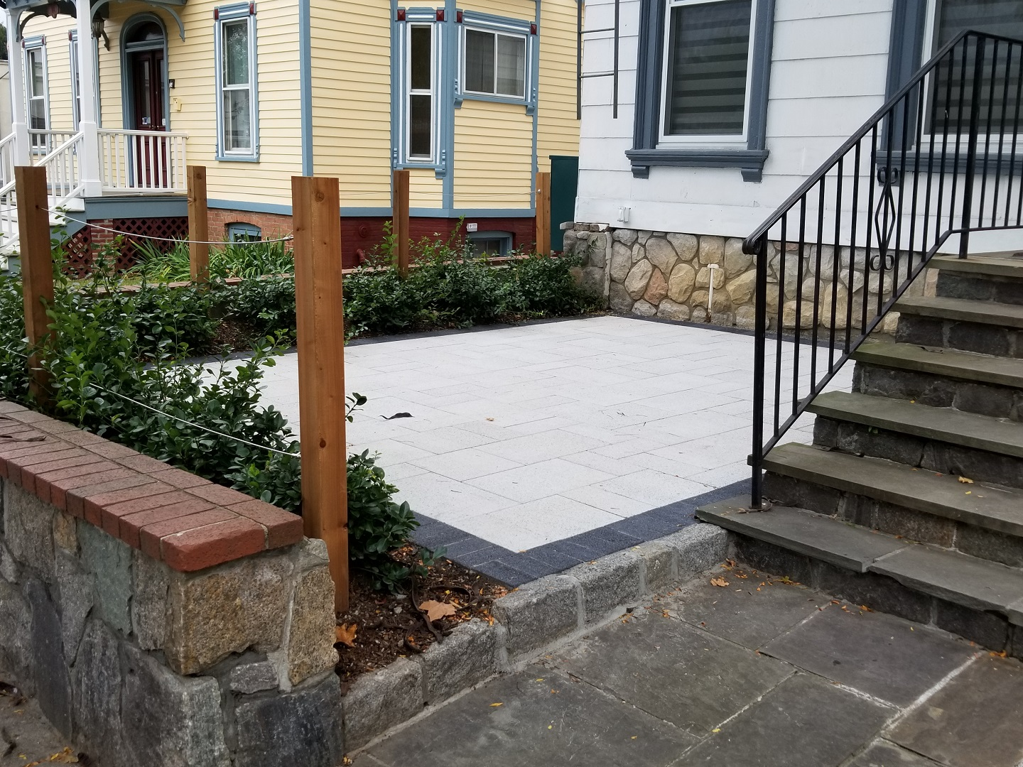 Before patio installation Yorktown NY