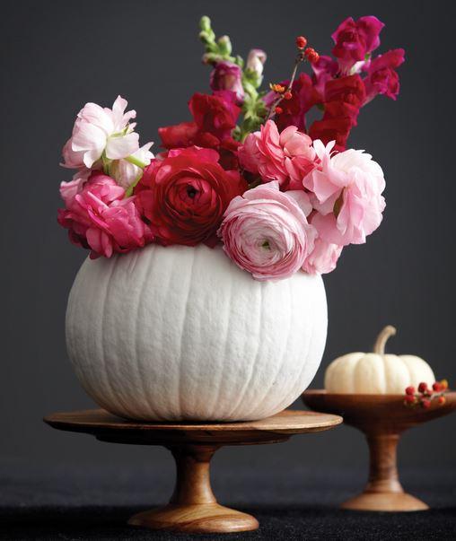 White Pumpkin Floral Centerpiece