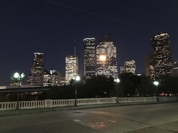 Houston's skyline on an evening run last week!