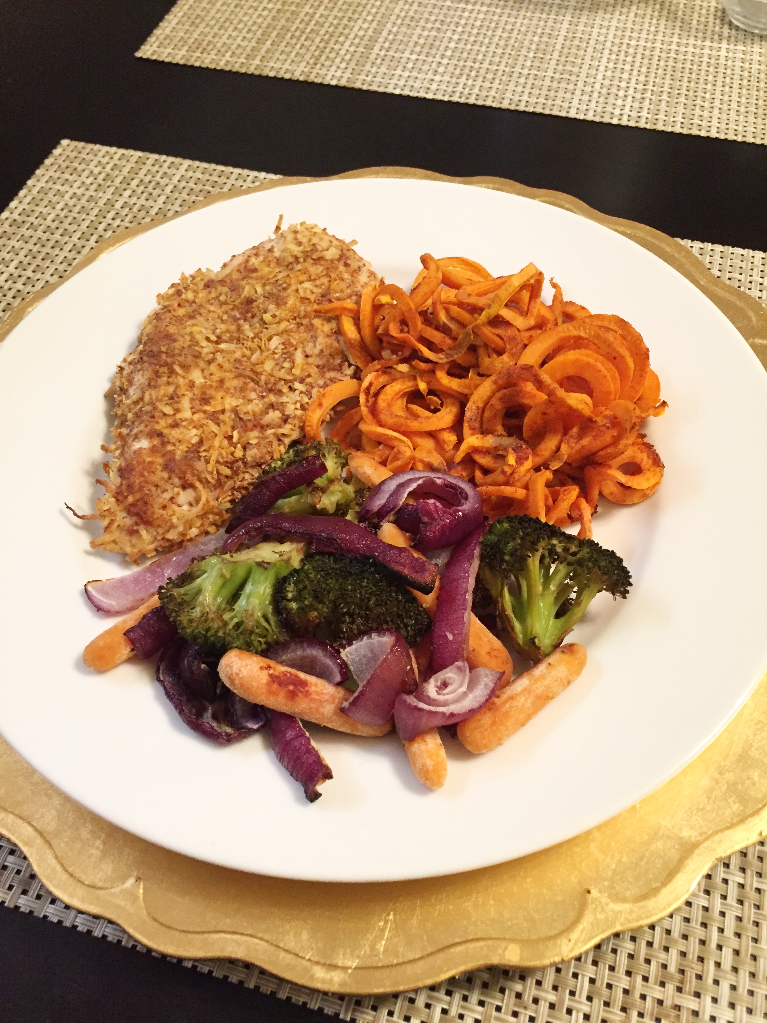 Paleo Coconut Crusted Chicken