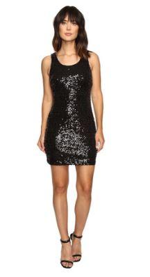 NYE black sequined sleevless dress.JPG