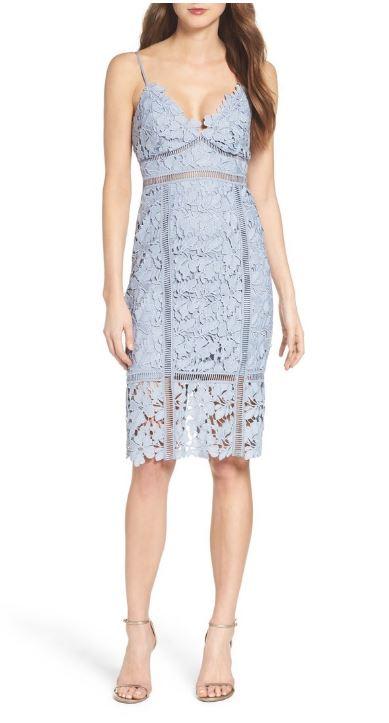 Bardot Botanica Lace Dress in Dusty Blue.JPG