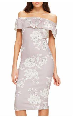 Missguided Off the Shoulder Bardot dress.JPG