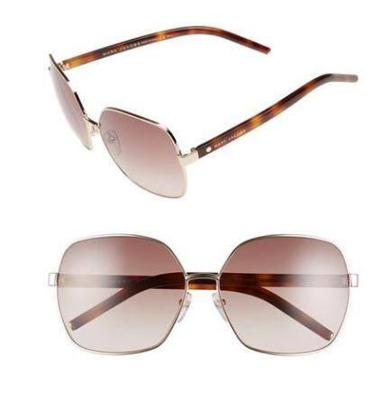 Marc Jacobs 61mm oversized sunglasses pink havana.JPG